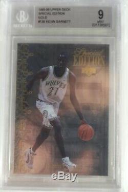 1995-96 Upper Deck Special Edition Gold #136 Kevin Garnett RC BGS 9 POP 2