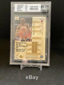 1995-96 upper deck special edition gold Michael Jordan #100 BGS 8