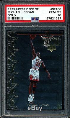 1995 Upper Deck Special Edition Gold #se100 Michael Jordan Psa 10 Gem Mint