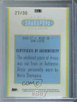 2005 Ace Authentic Special Edition Japan Dress Jersey /30 Maria Sharapova Auto