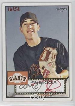 2007 Topps'52 Signatures Special Edition/52 #52S-TL Tim Lincecum Auto Rookie