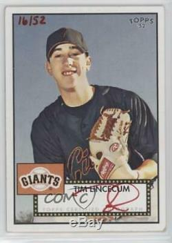 2007 Topps'52 Signatures Special Edition /52 Tim Lincecum #52S-TL Rookie Auto