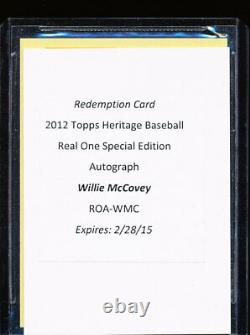 2012 Topps Heritage Willie Mccovey Real One Special Edition Red Ink Auto 8/63