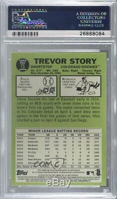 2016 Heritage High Number Special Edition Red Ink /67 Trevor Story Rookie Auto