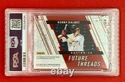 2019 Elite Extra Edition Bobby Dalbec Future Threads Patch Auto 1/5 RC Red Sox