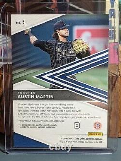 AUSTIN MARTIN 2020 Elite Extra Edition ON-CARD AUTO PRIME NUMBERS #D 1/6 Jays