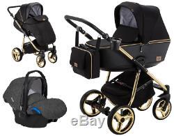 Adamex Reggio Special Edition stroller pram puschair 3in1 car seat adapters