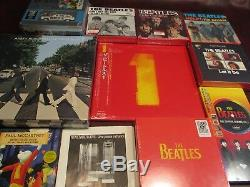 BEATLES Abbey Road DELUXE EDITION + 45 BOX SINGLES & USA CD'S + T-SHIRTS + BONUS