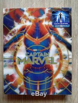Captain Marvel Fanatic Selection (Blufans) Single Lenticular 4K/2D Steelbook New
