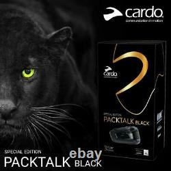 Cardo Packtalk Black Special Edition Single 3 Year Warranty Newest Not Bold