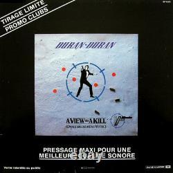 Duran Duran A View To A Kill (Dangereusement) Mega Rare 12 Promo LP 007 BOND