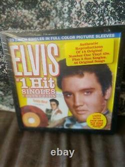 ELVIS PRESLEY #1 Hit Singles Collection Colored Vinyl 45 RPM Records SEALED Box