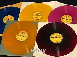 ELVIS PRESLEY Set of 5 SUN 78rpm REPROS colored vinyl 209, 210, 215, 217, 223