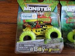 FULL ZOMBIE INVASION vs HUNTER Doubles & Singles Lot (6) Spin Monster Jam Trucks