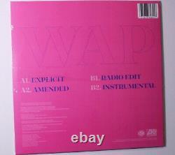 IN HAND Cardi B WAP SIGNED PURPLE Vinyl Limited Edition Sealed 12 Single