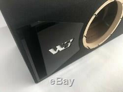 JL Audio 10W3v3-2 ported sub box, SPECIAL EDITION with black plexi port trim
