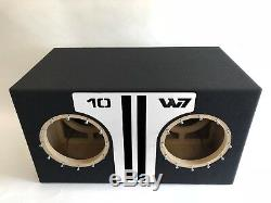 JL Audio 10W7 AE dual ported sub box SPECIAL EDITION with white plexi port trim