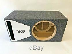 JL Audio 12W6v3 ported subwoofer box SPECIAL EDITION with white plexi port trim