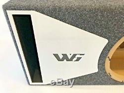JL Audio 12W6v3 ported subwoofer box SPECIAL EDITION with white plexi port trim