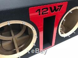 JL Audio 12W7 AE dual ported sub box SPECIAL EDITION with red plexi port trim