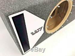 JL Audio 13W7 AE ported subwoofer box SPECIAL EDITION with white plexi port trim