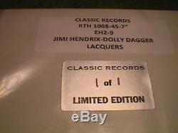 Jimi Hendrix Dolly Dagger 45 rpm 12 Lacquer SEALED only 1 of 1 made