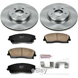 KOE1714 Powerstop 2-Wheel Set Brake Disc and Pad Kits Front New for Chrysler 300