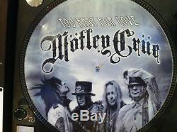 MOTLEY CRUE TOO FAST FOR LOVE Mega Rare 12 Picture Disc Demo Single LP