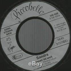 Sandra Japan Ist Weit (Big In Japan) Sekunden Mega Rare 7 LP 45 ITALO DISCO