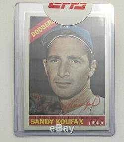 Sandy Koufax Real One Special Edition Autograph #d/66 2015 Topps Heritage Auto