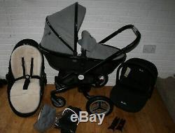 Silver Cross Surf 2 Special Edition Eton (grey) pram car seat travel system 3in1