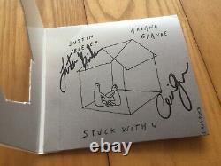 Stuck with u signed Ariana Grande Justin Bieber