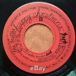 THE BEATLES-HAPPY CHRISTMAS RARE ORIGINAL YUGOSLAVIAN 7'' PS 1969 withINSERT LTD