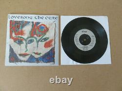 THE CURE Lovesong FICTION 1989 UK 7 IN NUMBERED LOVEBOX & LINEN PRINT FICSG30