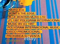 U2 MOFO Ultra Rare Ltd Edition Mexico PolyGram Promo CD Cat CDP 691-2