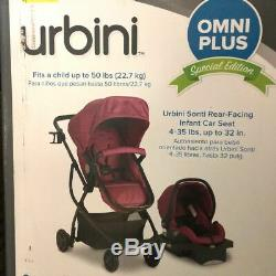 Urbini Omni Plus 3 in 1 Travel System, Special Edition, Raspberry Fizz