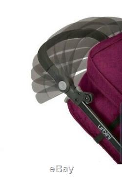 Urbini Omni Plus 3 in 1 Travel System Special Edition, Raspberry Fizz W