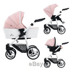 Venicci Pure Special Edition 3 in 1 Travel System Rose / White Damaged Box