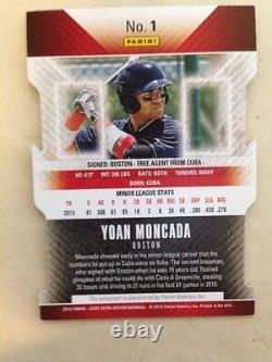 Yoan Moncada 2015 Elite Extra Edition /100 Aspirations Die Cut Auto White Sox