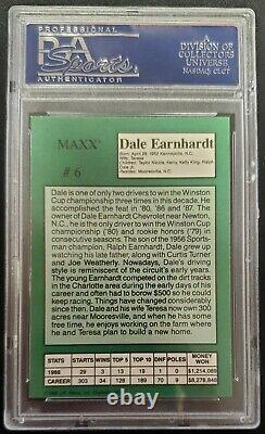 1989 Maxx Crisco Dale Earnhardt Rookie Édition Spéciale Psa 10