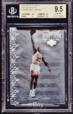 1995-1996 Ud Special Edition # 100 Michael Jordan Bgs Gem Mint 9.5. Feuille D'argent