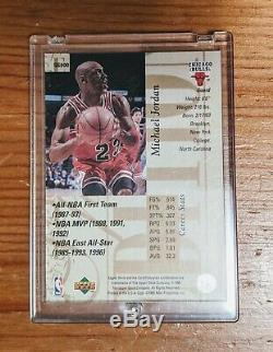 1995-1996 Upper Deck Special Edition Michael Jordan Gold Card # Se100 Mint Bulls