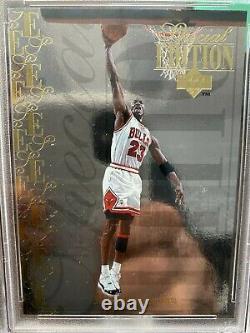 1995-96 Upper Deck Special Edition Gold Michael Jordan Card #se100 Psa Mint 9
