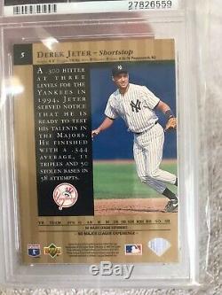 1995 Upper Deck Gold Edition Spéciale # 5 Derek Jeter Psa 9 Pop 10 Rare