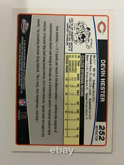 2006 Topps Chrome Réfractaire Devin Hester #252 Special Edition Rookie Mint