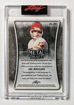 2021 Leaf Metal Draft Joe Montana Edition Spéciale Auto Orange 1/5 Ba-jm2