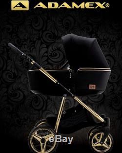 Adamex Reggio Special Edition 3in1 Poussette Adaptateurs De Siège De Voiture Puschair