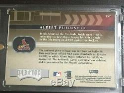 Albert Pujols Rookie (rare) Autographe Édition Spéciale Absolute Memorabilia # 157