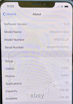 As-is Écran Craqué R-sim Déverrouillé Apple Iphone Xs Max 256 Go D'or Lire