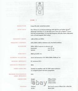 B&w Bowers Et Wilkins Cdm1 Special Edition Single Bookshelf Haut-parleur